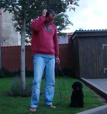 Jenny s páníčkem před odjezdem z rodného Dánska.